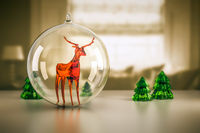 reindeer of glass