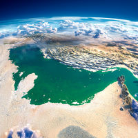 Fragments of the planet Earth. Persian Gulf