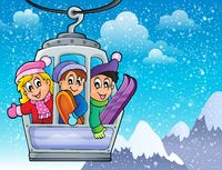 Cable car theme image 2 - picture illustration.