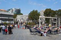 At Grand Casemates Square, Gibraltar