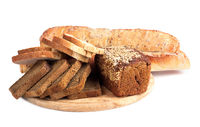 Bread from rye and wheat flour of rough grinding