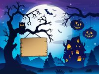 Scenery with Halloween thematics 3 - picture illustration.