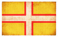 Grunge flag of Dorset (Great Britain)