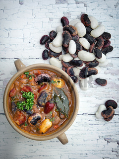 The healthy honest homemade bean soup