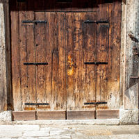 Aged old doors