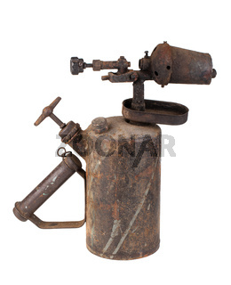 Vintage old blowtorch