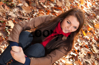 Sitting and witing in the autumn