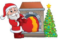 Santa Claus theme image 7 - picture illustration.