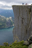 Preikestolen, Pulpit Rock, at Lysefjord, Norway