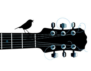Gitarre und Vogel.eps