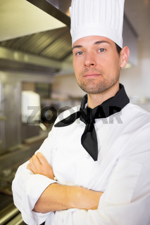Closeup of a male cook in the kitchen