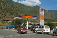 Petrol station of the Indian Oil Corporation, Bhut