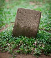 Old small gravestone