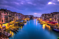Canal Grande at Night, Italy