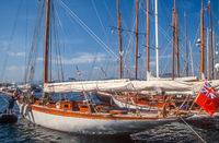 Sailing yacht in the harbor of Saint Tropez
