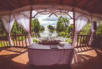 Inside of beautiful wedding gazebo