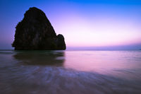 Sunset at tropical beach landscape. Thailand