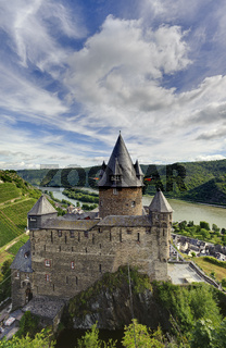 Burg Stahleck, Bacharach, Rheinland-Pfalz, Deutschland,