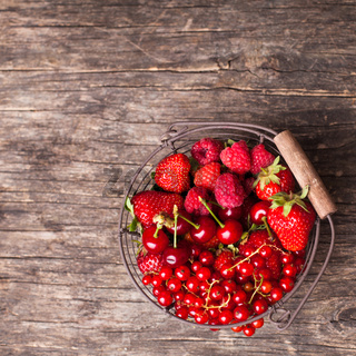Red summer fruits