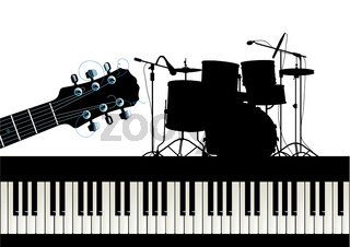 guitar piano and drums.eps