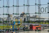 Berlin Potsdamer Platz view to the Reichstag