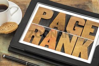 page rank - SEO concept