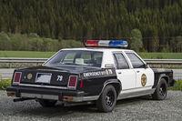 Nostalgic  police car