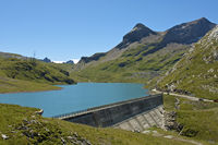 Water reservoir Lake Sanetsch, Switzerland