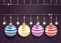 Coloreed Baubles Stars Purple Ornaments