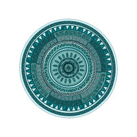 Round ornament mandala pattern over white