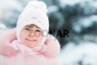 Happy child in winter