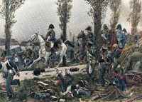 Napoleon flees Leipzig Battle of Leipzig