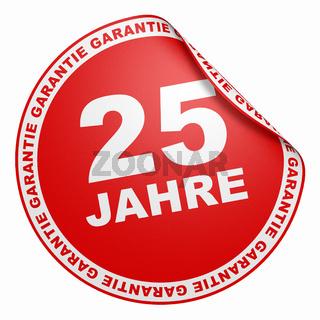 3D Aufkleber - 25 Jahre Garantie