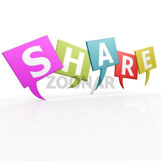Share speak bubble