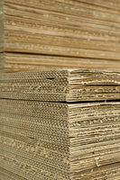 Wellpappe corrugated cardboard
