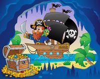 Pirate ship theme image 3 - picture illustration.