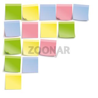 White Board Colored Sticks Template