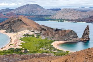 Vulkaninsel St. Bartolomé, Galapagos, Ekuador mit Pinnacle-Rock