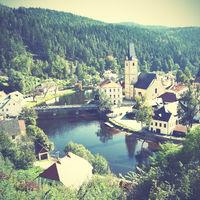 Small old town in Czechia