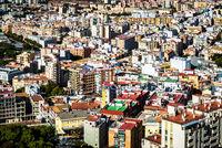Rooftops of Malaga neighborhood. Andalusia, Spain