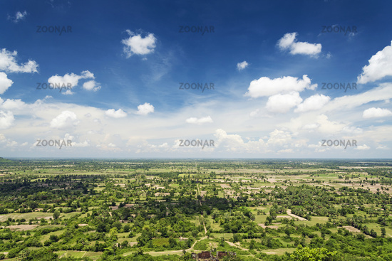 view from phnom chisor temple in cambodia