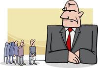people at bank cartoon illustration