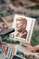 Kennedy on a Stamp