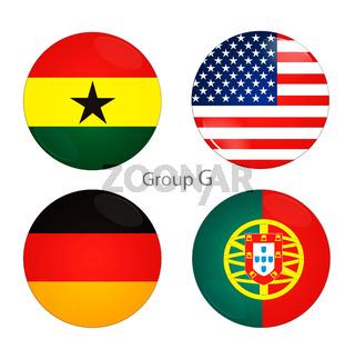 Group G -USA, Ghana, Germany, Portugal