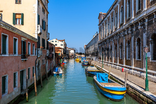 Typical cityscape of Venice, Italy.