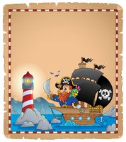 Pirate theme parchment 1 - picture illustration.