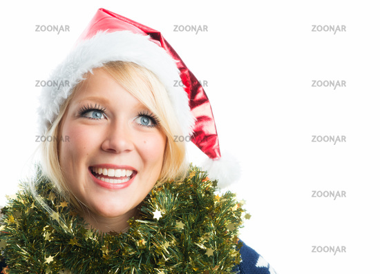 christmas woman with cap
