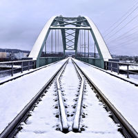 railway bridge near Rehlingen, Saarland, Germany
