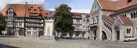 Burgplatz square, Brunswick, Lower Saxony, Germany