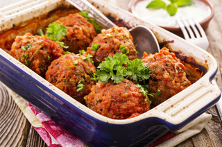 meat balls cooked